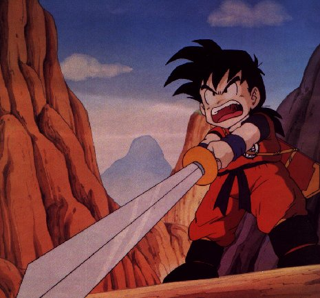 Gohan With His Sword Drawn And Ready To Fight.jpg