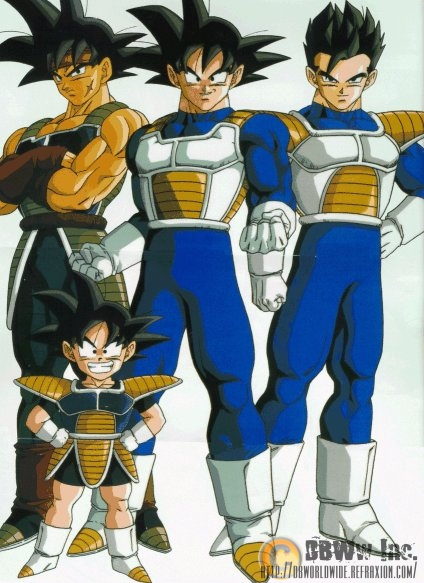 Goku, Bardock, Goten, and Gohan.jpg